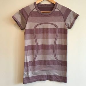 Lululemon Swiftly Tech Striped Short Sleeve Tee